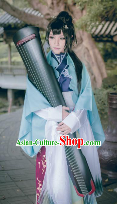 Traditional Chinese Cosplay Swordswoman Dress Ancient Drama Fairy Princess Costumes for Women