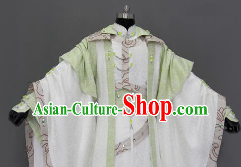 Traditional Chinese Cosplay Queen Green Dress Ancient Drama Female Swordsman Costumes for Women
