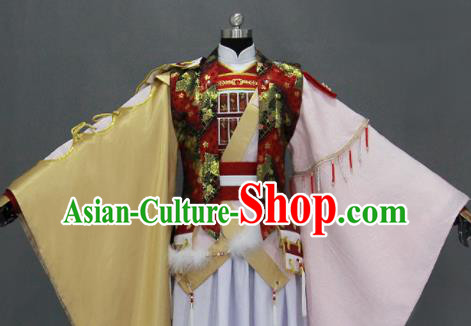 Traditional Chinese Cosplay Goddess Queen Dress Ancient Drama Female Swordsman Costumes for Women