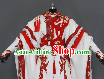 Customize Chinese Traditional Cosplay Taoist King Costumes Ancient Swordsman Clothing for Men