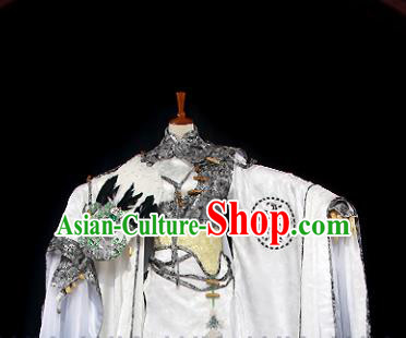 Customize Chinese Traditional Cosplay Prime Minister Zhuge Liang Costumes Ancient Swordsman Clothing for Men