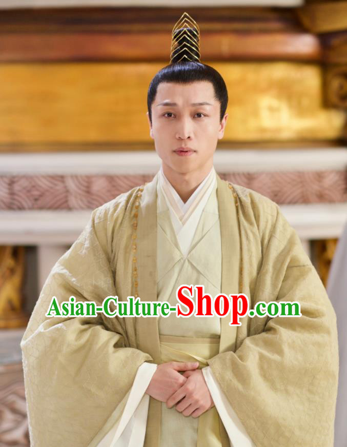 Chinese Ancient Drama Love and Destiny Lord of Dipper Si Ming Swordsman Replica Costumes for Men