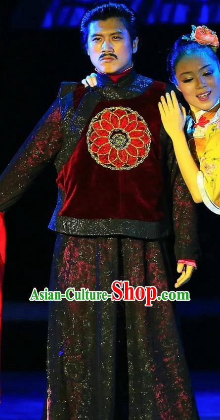 Chinese Female Embroider Ancient Milord Clothing Stage Performance Dance Costume for Men