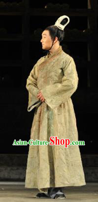 Chinese Drama Fu Sheng Ancient Qin Dynasty Prince Green Clothing Stage Performance Dance Costume for Men