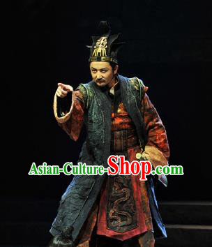 Chinese Drama Fu Sheng Ancient Qin Dynasty Minister Clothing Stage Performance Dance Costume for Men