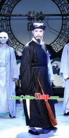 Chinese Drama Huating Song of Song Dynasty Ancient Landlord Black Clothing Stage Performance Dance Costume for Men