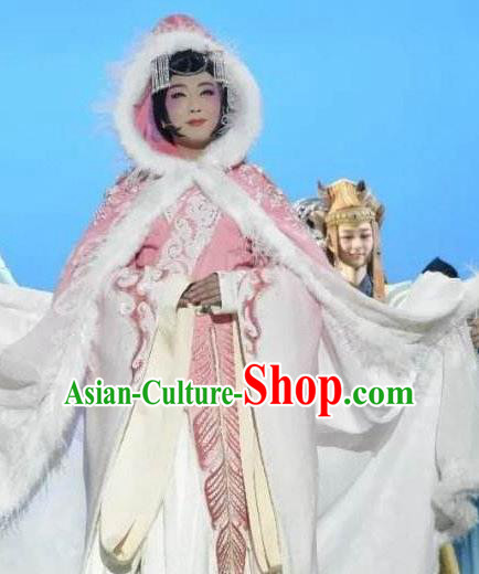 Chinese Zhaojun Chu Sai Ancient Queen Classical Dance Dress Stage Performance Costume and Headpiece for Women