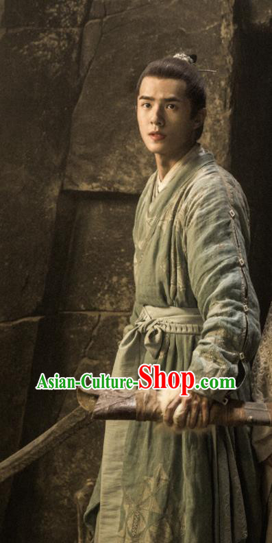 Chinese Drama Ancient Swordsman Clothing Novoland Eagle Flag Crown Prince Lv Guichen Liu Haoran Replica Costumes for Men