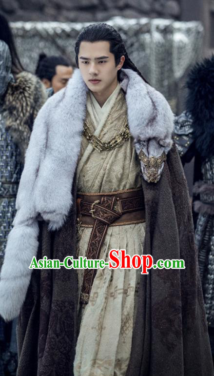 Chinese Ancient Prince Clothing Drama Novoland Eagle Flag Lv Guichen Liu Haoran Replica Costumes for Men