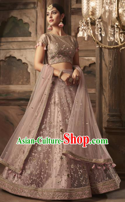 Traditional Indian Court Lehenga Embroidered Silk Dress Asian India National Bollywood Costumes for Women
