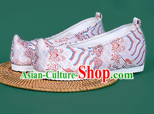 Chinese National Brocade Shoes Traditional Hanfu Shoes Princess Shoes Opera Shoes for Women