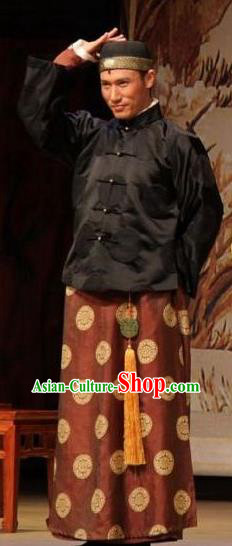 Chinese Unsurpassed Beauty Of A Generation Ancient Qing Dynasty Merchant Clothing Stage Performance Dance Costume for Men