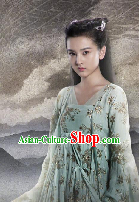 Chinese Drama Novoland Eagle Flag Ancient Princess Yu Ran Song Zu Er Replica Costumes and Headpiece for Women