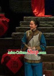 Chinese Moon Shines On Sugarbush Ferry Farmwife Dance Dress Stage Performance Dance Costume and Headpiece for Women