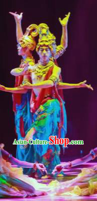 Dance Between Heaven and Earth Chinese Classical Dance Clothing Stage Performance Dance Costume for Men