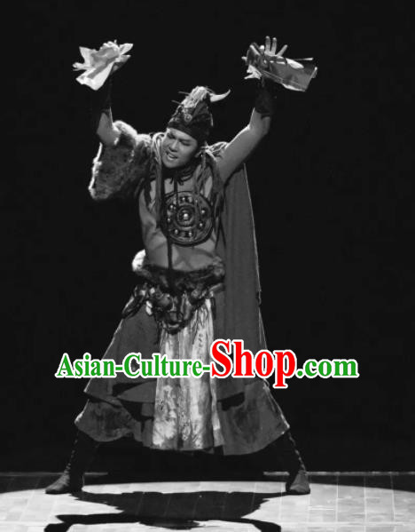 Nostalgia Is A Disease Chinese Ancient Swordsman Clothing Stage Performance Dance Costume for Men