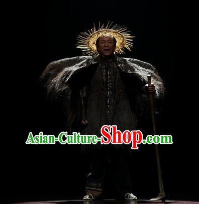 Impression Shanha Chinese She Nationality Hunter Clothing Stage Performance Dance Costume for Men