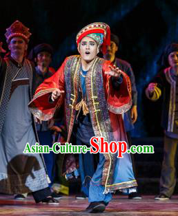 Impression Shanha Chinese She Nationality Wedding Clothing Stage Performance Dance Costume for Men