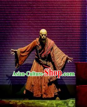 Sunsets Chinese Classical Dance Ancient Monk Fa Hai Clothing Stage Performance Dance Costume for Men
