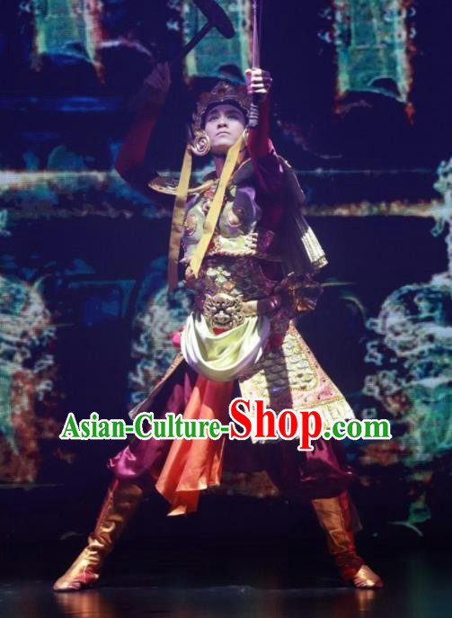 Meet Millennium Chinese Ethnic Dance Clothing Stage Performance Dance Costume for Men