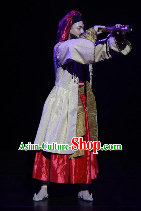 Meet Millennium Chinese Ancient Khitans Dance Clothing Stage Performance Dance Costume for Men