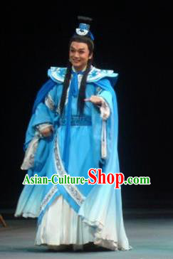 Xiao Qiao Marriage Chinese Peking Opera Strategist Zhou Yu Clothing Stage Performance Dance Costume and Headpiece for Men