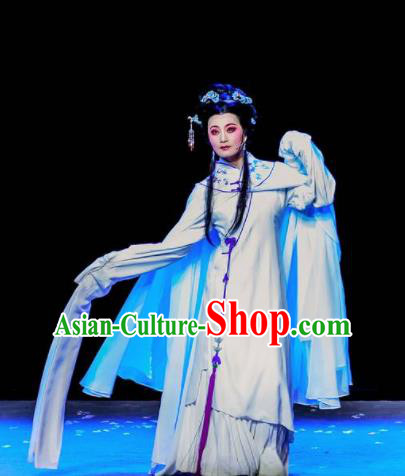 Phoenix Hairpin Chinese Peking Opera Diva Dress Stage Performance Dance Costume and Headpiece for Women