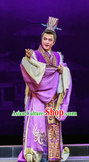 Chinese Shaoxing Opera Bronze Swallow Terrace Emperor Cao Pi Clothing Stage Performance Dance Costume for Men