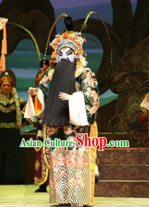 Su Wu In Desert Chinese Beijing Opera Treacherous Officer Clothing Stage Performance Dance Costume and Headpiece for Men