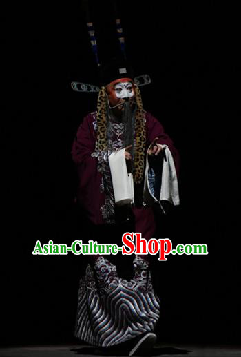 Su Wu In Desert Chinese Beijing Opera Official Clothing Stage Performance Dance Costume and Headpiece for Men