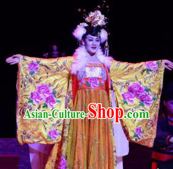 Ganzhou Musical Dance Chinese Ancient Queen Dress Stage Performance Dance Costume and Headpiece for Women
