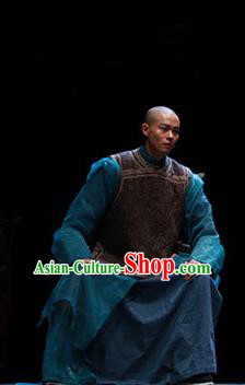 Beijing Fayuansi Chinese Ancient Qing Dynasty Tan Sitong Clothing Stage Performance Dance Costume and Headpiece for Men