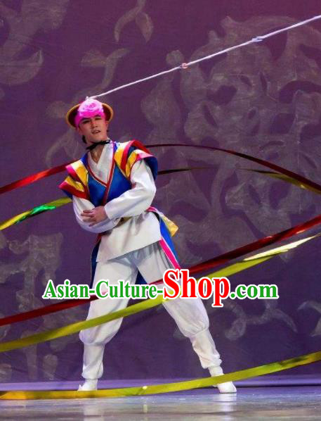 Chinese Traditional Korean Nationality Elephant Hat Dance Clothing Stage Performance Dance Costume for Men