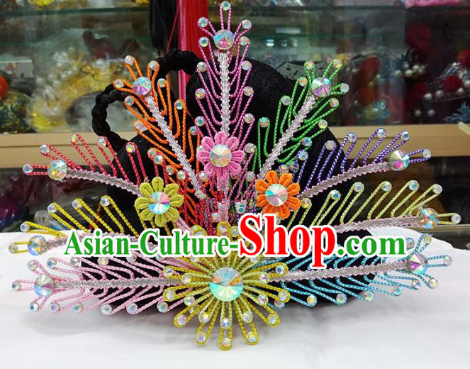 Chinese Traditional Beijing Opera Hair Accessories Peking Opera Princess Phoenix Coronet Hairpins for Adults