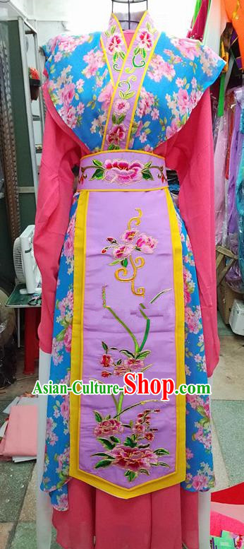 Chinese Traditional Beijing Opera Actress Dress Peking Opera Water Sleeve Costume for Adults