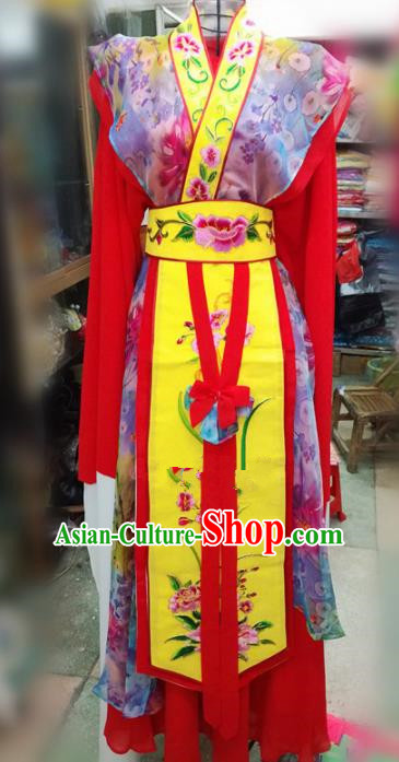 Chinese Traditional Beijing Opera Red Dress Peking Opera Actress Water Sleeve Costume for Adults