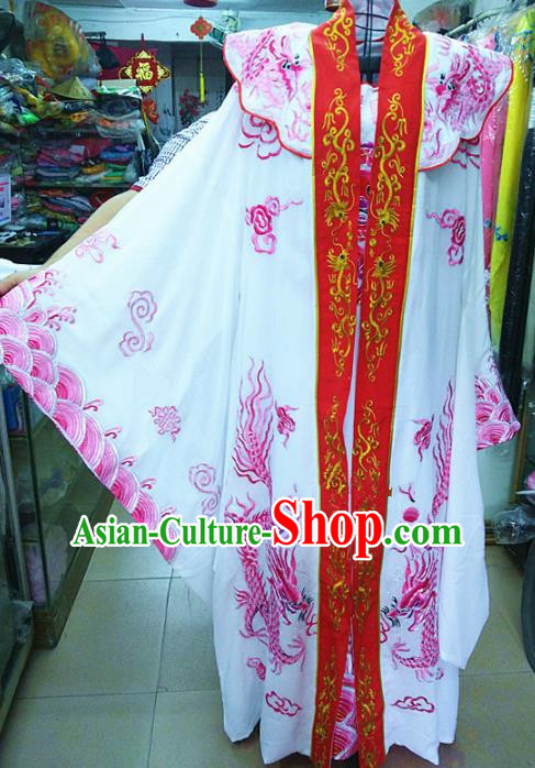 Chinese Traditional Beijing Opera Emperor Costume Peking Opera Niche Rosy Robe for Adults