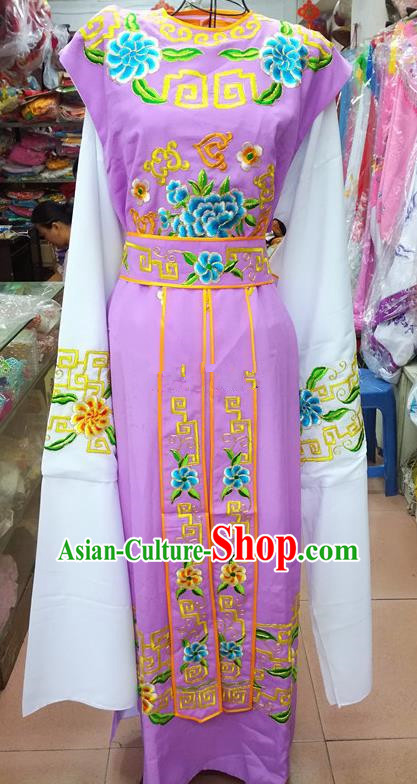 Chinese Traditional Beijing Opera Nobility Childe Costume Peking Opera Niche Lilac Robe for Adults