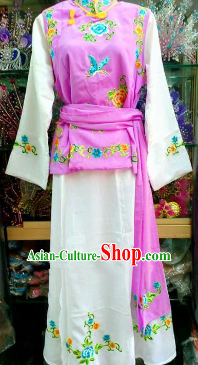 Chinese Traditional Beijing Opera Maidservants Pink Dress Peking Opera Young Lady Costume for Adults