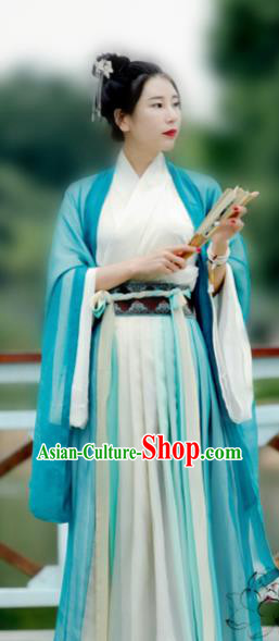 Chinese Ancient Court Princess Hanfu Dress Jin Dynasty Palace Lady Historical Costume for Women
