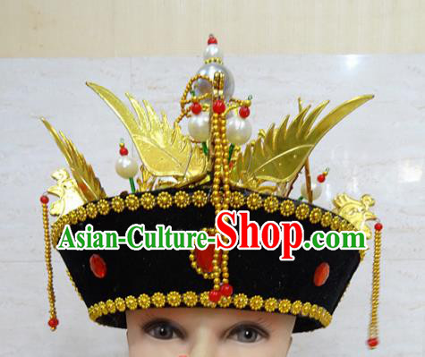Chinese Traditional Beijing Opera Actress Hair Accessories Ancient Manchu Queen Phoenix Hat for Adults