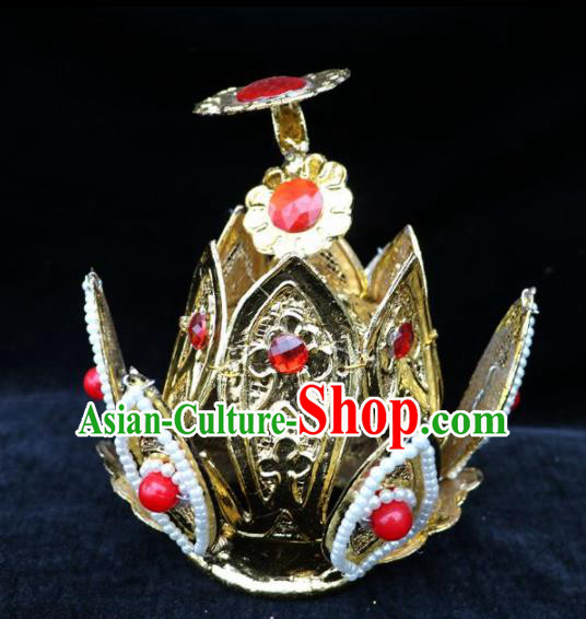 Chinese Traditional Beijing Opera Royal Highness Hair Accessories Peking Opera Niche Hairdo Crown