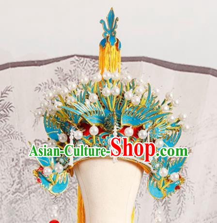 Chinese Traditional Beijing Opera Phoenix Coronet Hair Accessories Ancient Kun Opera Imperial Consort Headwear
