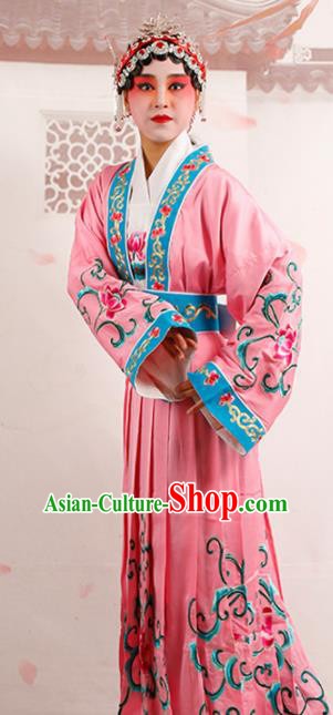Chinese Traditional Beijing Opera Diva Costume Ancient Princess Pink Palace Dress