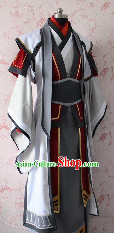 Chinese Ancient Cosplay Swordsman Costume Traditional Taoist Clothing for Men