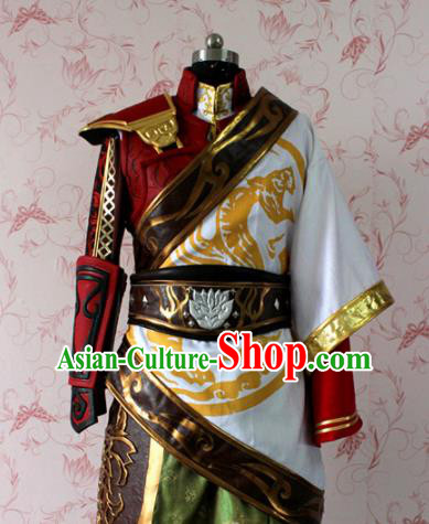 Chinese Ancient Swordsman Costume Traditional Cosplay Royal Highness General Clothing for Men
