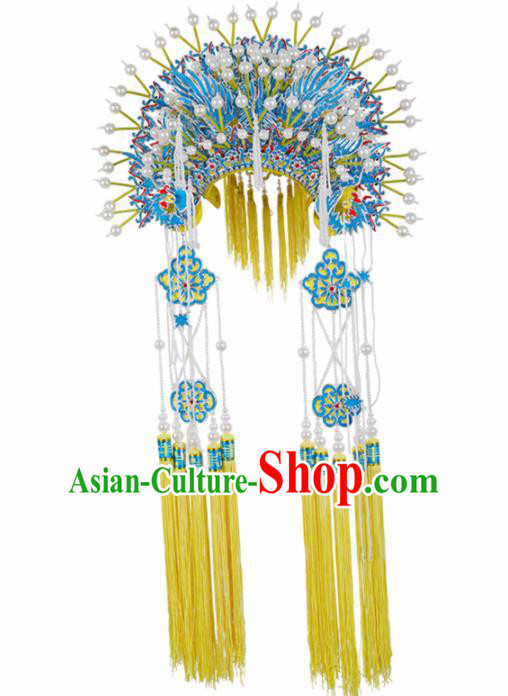 Asian Chinese Beijing Opera Diva Headwear Traditional Peking Opera Imperial Concubine Phoenix Coronet