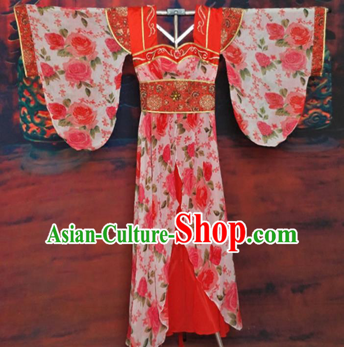 Traditional Chinese Tang Dynasty Princess Hanfu Dress Ancient Imperial Consort Historical Costume for Women