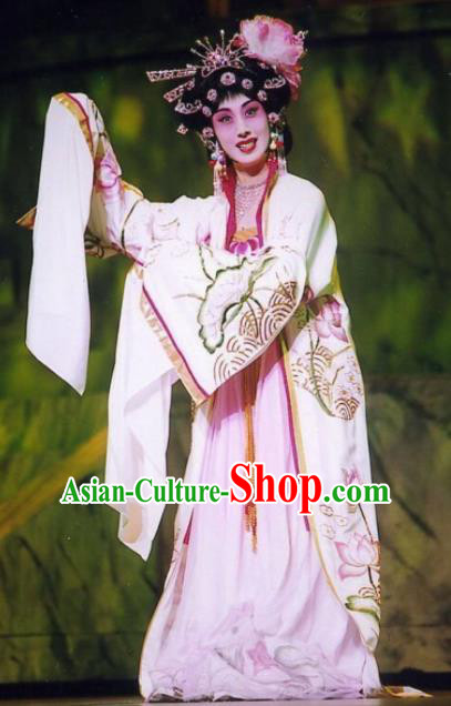 Traditional Chinese Beijing Opera Diva Embroidered Dress Ancient Princess Historical Costume