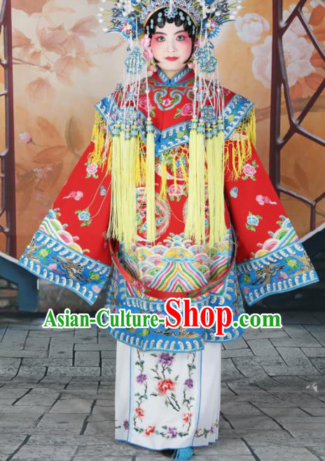 Traditional Chinese Beijing Opera Diva Costume Peking Opera Imperial Concubine Red Dress